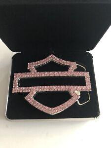 Harely Davidson Womens Pink Label Swarovski Belt Buckle New in Box Vintage RARE