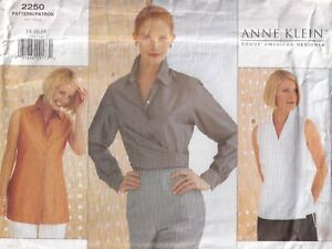 Vogue Sewing Pattern 2250, Blouses by Anne Klein, Wrap Ties, Size 14 16 18 New