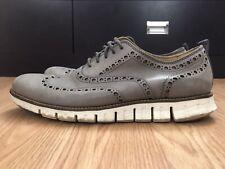 Cole Haan Men's Zerogrand Wingtip Oxfords Size 9 M Stormcloud Gray Shoes C23743