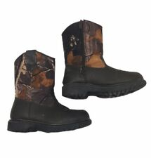 Deer Stags Tour Boys 11M Water Resistant Camoflage Boots