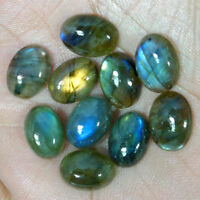 10X14 MM Oval Labradorite Cabochon Loose Gemstone 10 Pcs Lot 100% Natural Gems