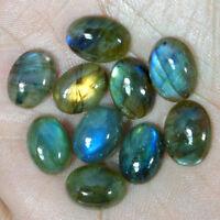 10X14 MM Oval Labradorite Cabochon Loose Gemstone 10 Pcs Lot 100% Natural Gems