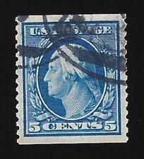 US #355 1909 Blue Wmk 191 Perf 12 Vert Used VF Scv $300