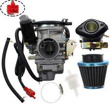 PD24J Carburetor for GY6 125cc 150cc Go Kart Scooter 152QMI 157QMJ w/ Air Filter