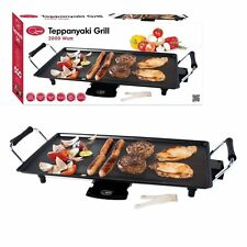 New Electric Teppanyaki Grill 2000w Table Top Griddle BBQ Barbecue Non Stick