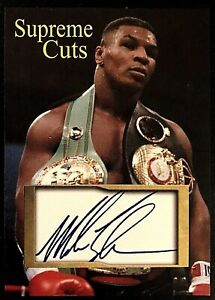 Mike Tyson Type 2 Supreme Cuts 2020 Sample Card Iron Mike Tyson