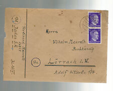 1944 Germany Dachau Concentration Camp Cover Lorrach Ferdinand Maurath Priest 3