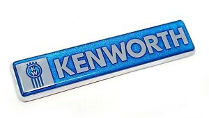 kenworth kw blue emblem metal truck semi chrome