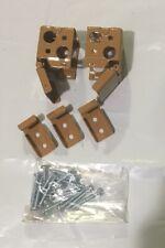 "1"" Oak Metal Mini Blind End Brackets With Hardware New"