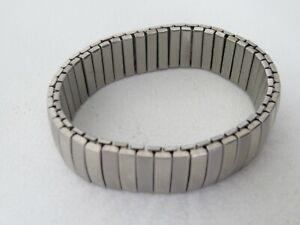 Two Tone Silver Metal Expanding Bracelet