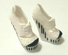 MONSTER HIGH DOLL SHOES - White with Black Keys (Keyboard) High Heels
