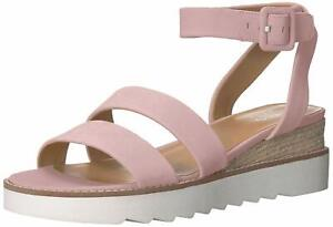 Franco Sarto Womens Connolly Leather Open Toe SlingBack, Light Pink, Size 6.5