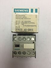 SIEMENS 3TH2040-0AK6 CONTROL RELAY CONTACTOR AUXILIARY