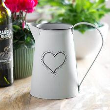 18cm Matt Grey Vintage Metal Jug Pitcher Vase Home Wedding Decoration Flower Pot