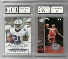 LEBRON JAMES & EZEKIEL ELLIOTT Graded GEM MINT 10 Rookie Cards lot/set NBA NFL!!