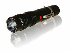 ALPHA FORCE LED FLASHLIGHT RECHARGEABLE STUN GUN IN BLACK CH-57BK