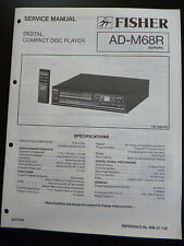 Original Service Manual Fisher Compact Disc Player  AD-M68R