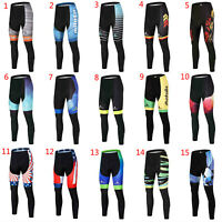 Miloto Men's Padded Cycling Pants Long Racing Biking Bicycle Tights Trousers