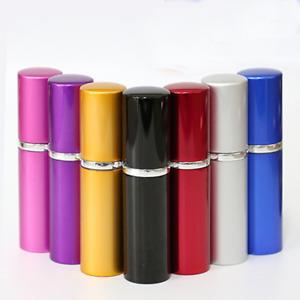 Lots 5ml/10ml Portable Glass Refillable Perfume Pump Spray Empty Aluminum Bottle