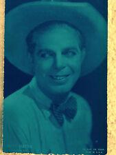 Hoot Gibson Universal Star Cowboy Silent Movie Arcade Card Ex.Sup. Co 1920's