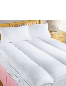 Luxury 5 * Mattress Reviver / Topper Hollowfibre Filled Blended Cotton Cover