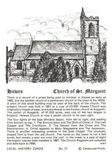 Postcard Local History Card Church of St Margaret, Hawes by Gatehouse Prints