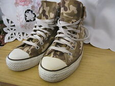 Camoflage CONVERSE ALL STAR High Top GOLD STAR Rare Limited Edition UK7.5/Eur41