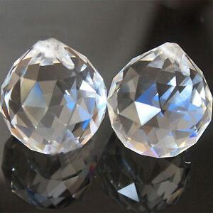 2PCS Hot Clear Crystal Feng Shui Lamp Ball Prism Rainbow Sun Wedding Decor 20mm