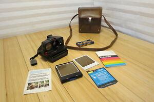 Vintage Polaroid SX-70 Sonar OneStep Instant Film Camera Lot With KP-25 Case