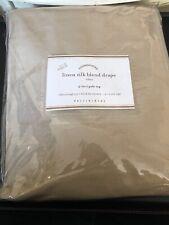 Pottery Barn Foundations Drape curtain Linen Silk Blend 3 in 1 rideau 50X 96