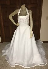 Zurc For Impression Wedding Dress Size 12 Womens White Floral Pre-owned c-detail