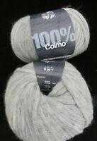 (159 €/kg): 700 g LG COLMO, Fb. 002 hellgrau, Schlauchbändchen #3416