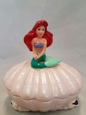 Vintage Schmid Disney Little Mermaid Ariel Trinket Box Seashell Figurine