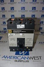 FCP34090 SQUARE D 90 amp 480 volt Panel Mount 3 Pole Breaker TESTED