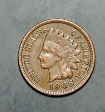 1906 Indian Head Penny Cent Very Fine W/ Liberty Coin  - Lot # 17