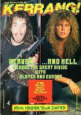 Joey Tempest of Europe on Kerrang Cover 1988  Bon Jovi  Slayer  Monsters of Rock
