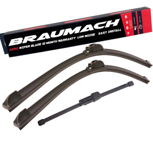 Front Rear Wiper Blades for Volkswagen Crafter 30-50 2F Cab Chassis 2.0 TDI 2011