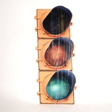 Traffic Stop Light Metal Wall Sign 35x14 inches