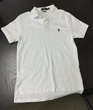 Polo Ralph Lauren Men's SMALL Short-Sleeve White PIMA Cotton Polo Shirt/Top