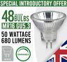 48x  MR16 GU5.3 50W HALOGEN Reflector DIMMABLE LIGHT BULB LAMP 12v