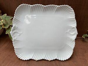 Antique Bisto (Bishop & Stonier) China sandwich / cake plate white