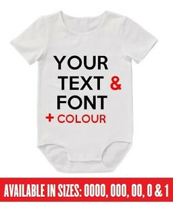 BABY Romper YOUR CUSTOM TEXT Bodysuit Funny Personalised Christmas Aunty Uncle