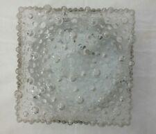 1970er Wand-/Deckenlampe Glas quadratisch