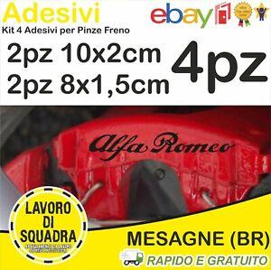 KIT 4 ADESIVI ALFA ROMEO sticker PINZE FRENO MITO 147 159 GIULIA STELVIO NERO