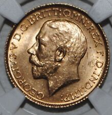 More details for 1925 gold sovereign king george ngc ms64 uncirculated great britain