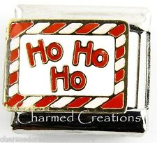 Ho Ho Ho Santa Claus Christmas Candy Cane 9mm Italian Charm Modular Link