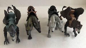 Chap Mei True Legends Figure Lot - Two Headed Orthrus Wolf Grey & Brown, Eagles