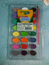 24 Assorted Colors Crayola Non-Toxic Washable Watercolor Paints NEW