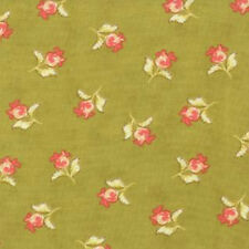 Moda Fig Tree Quilts Honeysweet Poppy Blooms Fabric in Pear Green 20215-14