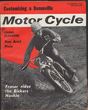THE MOTORCYCLE BICKERS HUSKY COVER 7 NOV 1963